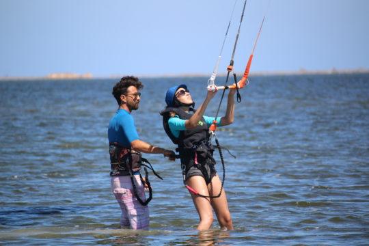 exercice avec voile kite